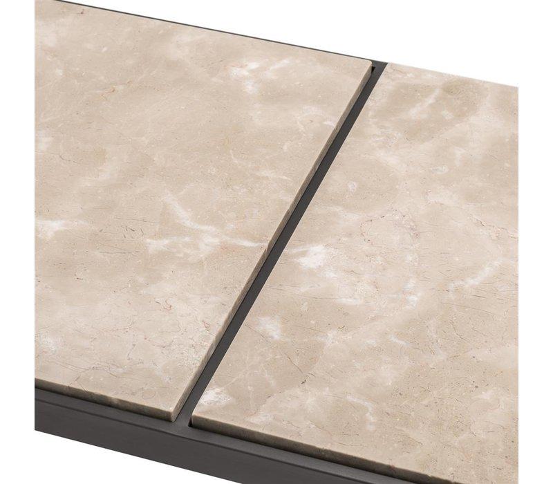 Couchtisch 'La Quinta' 'Beige Marmor und Bronze