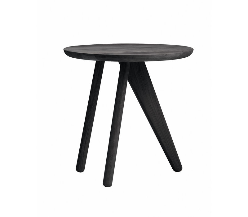 """Runder Beistelltisch """"Fin"""" mit 40 cm Durchmesser in der Farbe Black"""