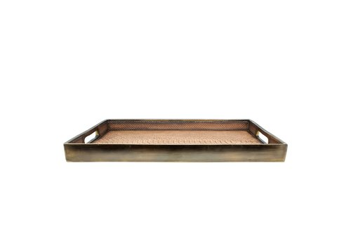Dome Deco Tray 'Snake' Brown