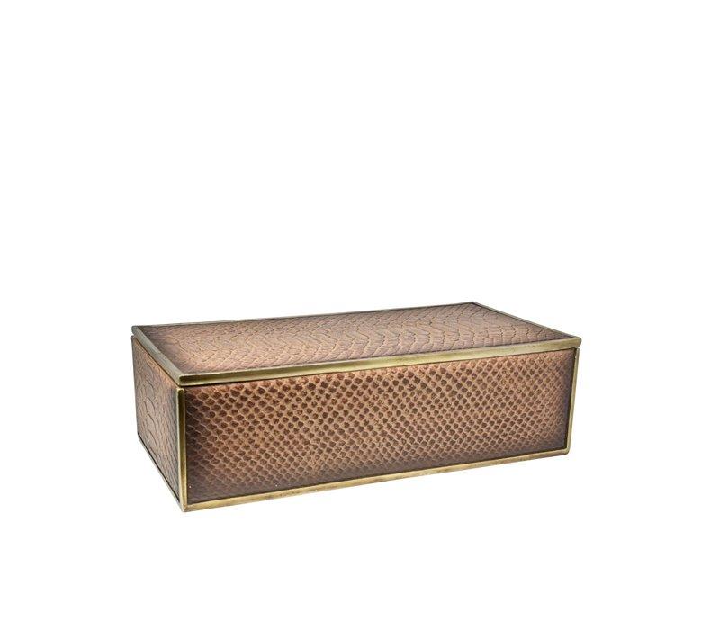 Box 'Snake' color Brown - M
