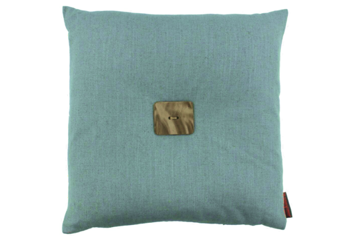 CLAUDI Design Cushion Albert Iced Blue + Leather