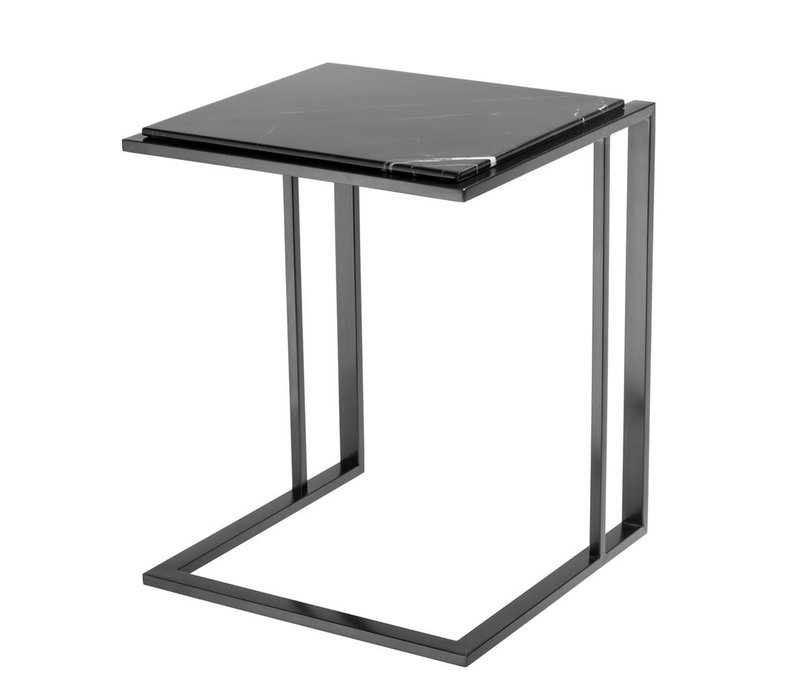Side Table Cocktail, black marble