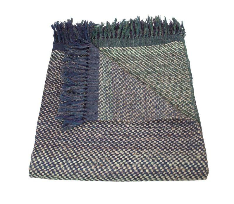 Decke in der Farbe Blau Grün