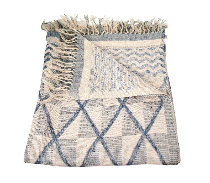 Decke in der Farbe Blau