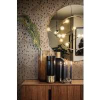 Vase glass ''Black Glass & Gold Bottom'' -H43 x D15 cm