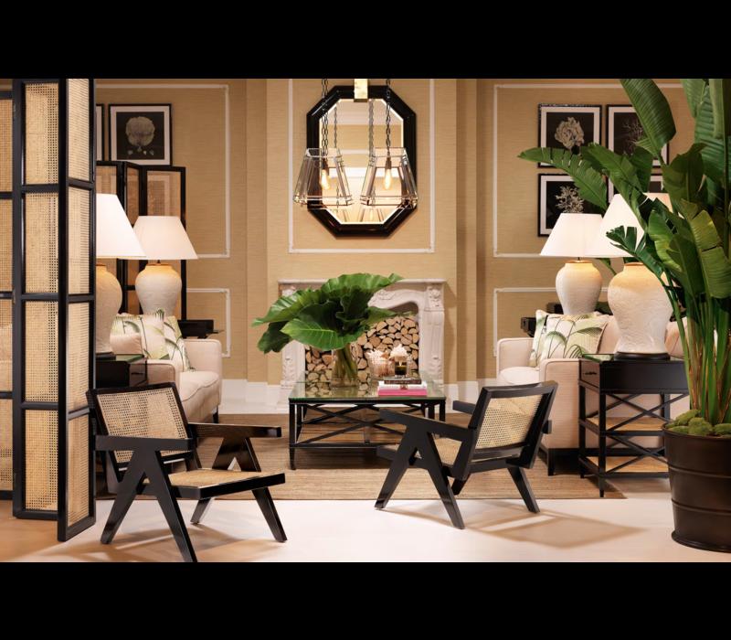 Lounge stoel Adagio met naturel rietenzitting