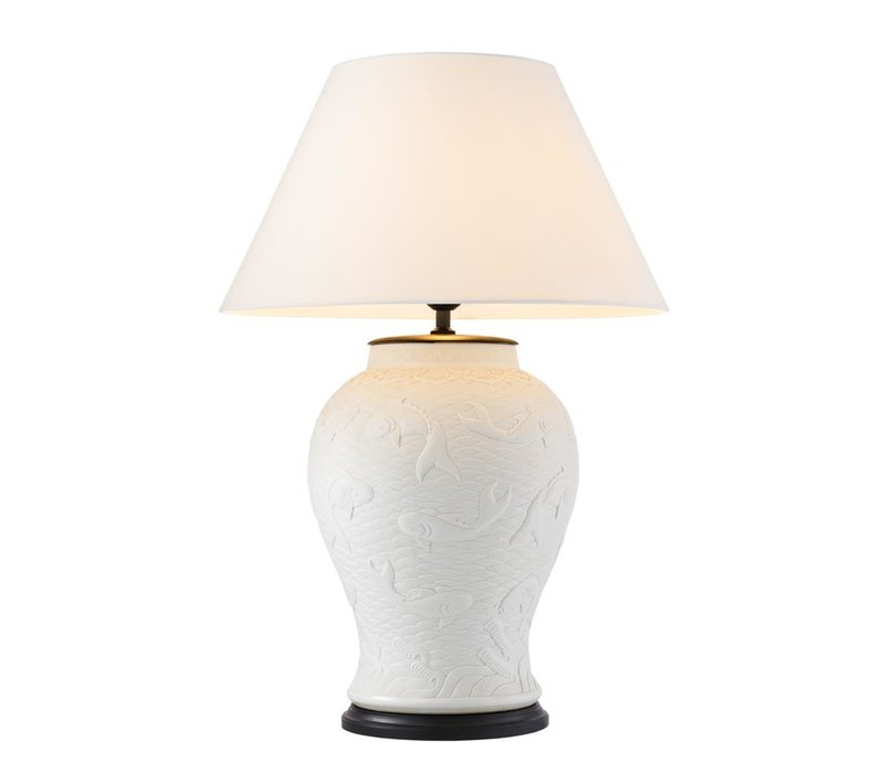 Table lamp ''Dupoint'' with off white shade