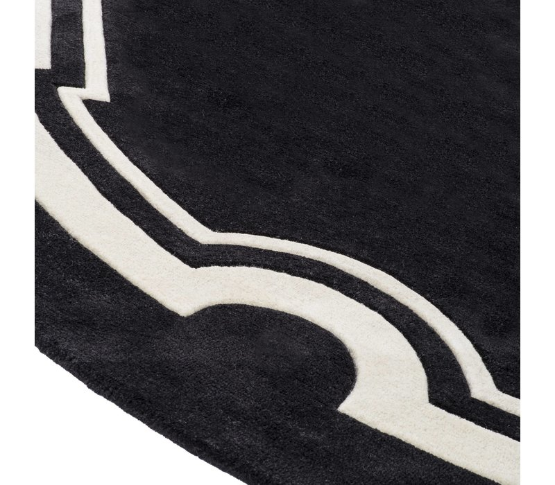 Sample 60 x 60 cm Carpet: 'Palazzo' Black