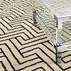 EICHHOLTZ Muster 60 x 60 cm Teppich:  'Sazerac' Black