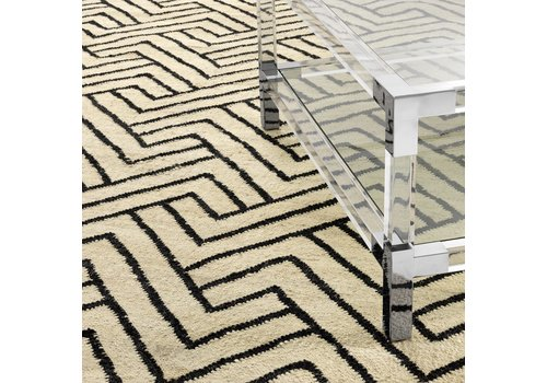 EICHHOLTZ Sample 60 x60 cm Carpet:  'Sazerac' Black
