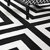 EICHHOLTZ Muster 60 x 60 cm Teppich:  'Thistle' Black