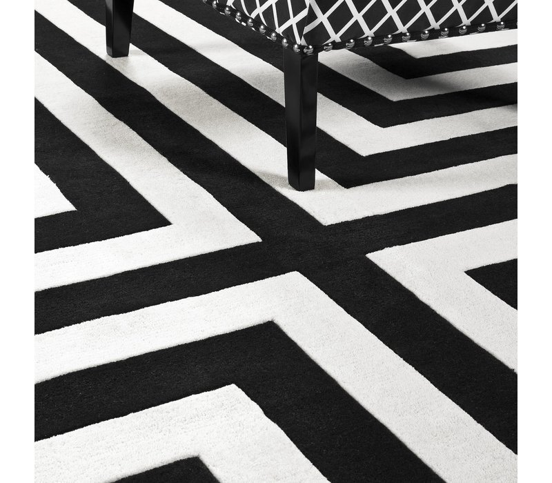 Sample 60 x 60 cm Carpet:  'Thistle' Black