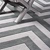EICHHOLTZ Muster 60 x 60 cm Teppich:  'Thistle' Grey