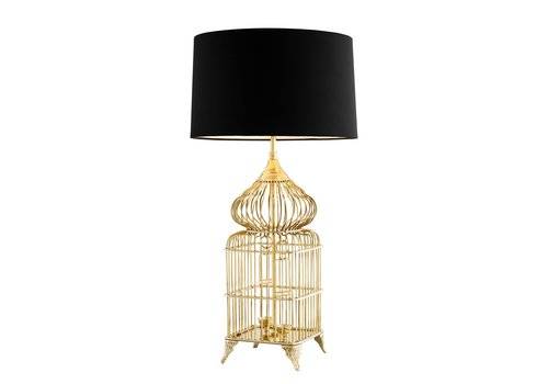 EICHHOLTZ Design table lamp 'La Cage' with black shade
