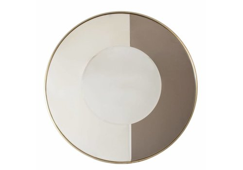 Dome Deco Round mirror 'Gold & Bronze' - Medium