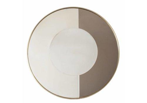 Dome Deco Runder Spiegel 'Gold & Bronze' - Medium