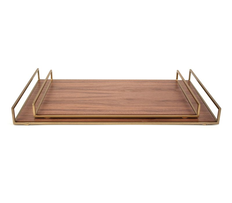 Tray 'Walnut' set of 2