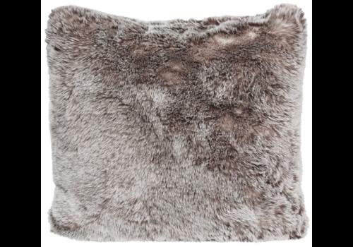 Winter-Home Cushion faux fur Tundrawolf