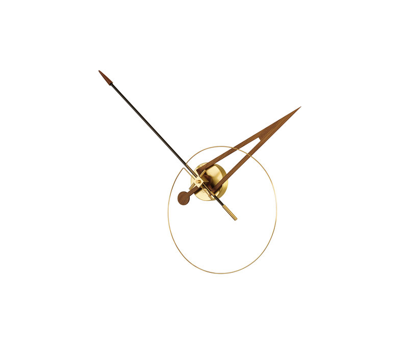 'Cris' modern wall clock - Gold
