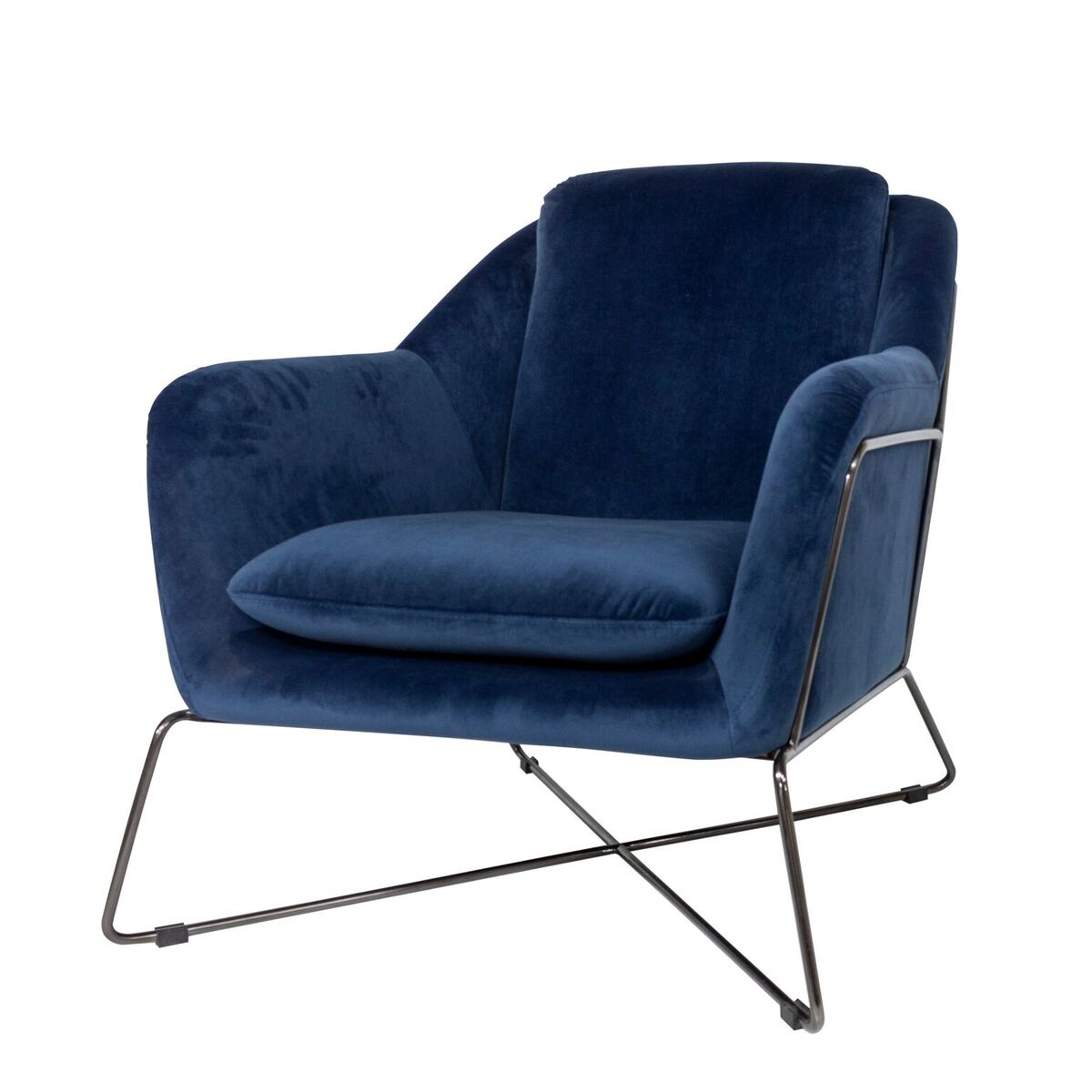 Enjoyable Gin Lounge Chair Blue Creativecarmelina Interior Chair Design Creativecarmelinacom