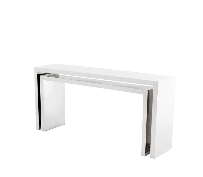 Design console table 'Esquire' made of polished stainless steel