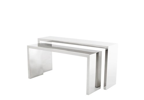 EICHHOLTZ Design console table 'Esquire' set of 2