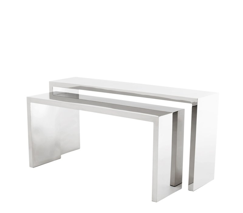 Design Console Table 'Esquire' polished stainless steel