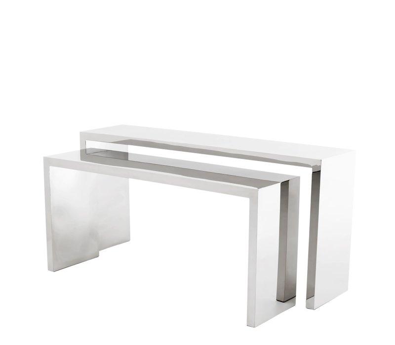 Design console tafel 'Esquire'  van gepolijst rvs