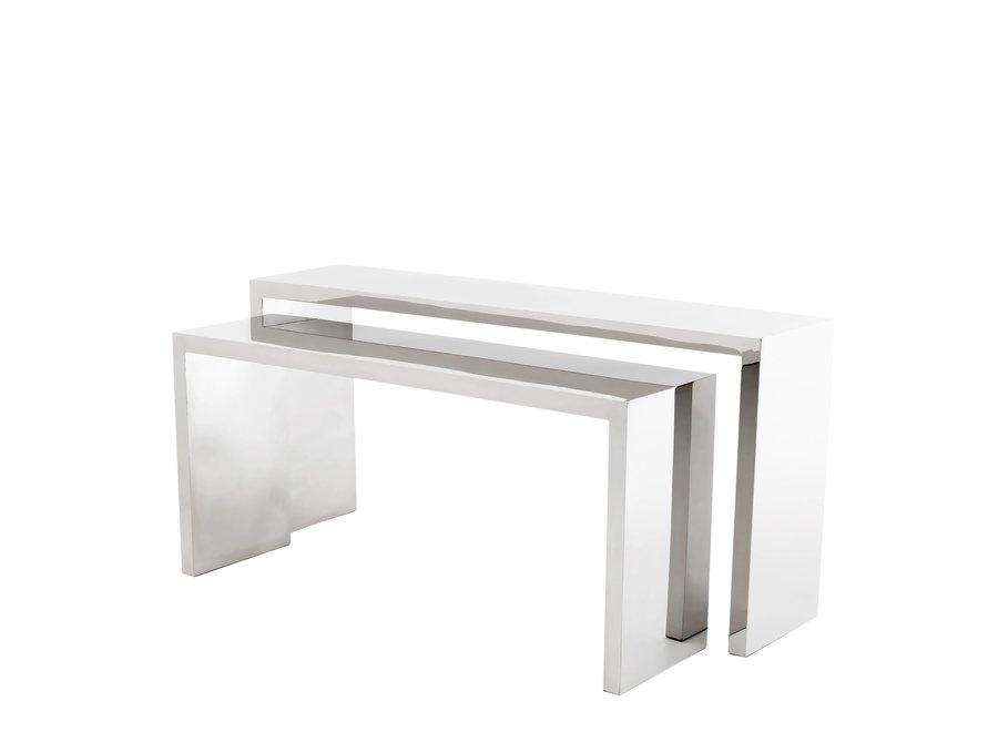 Design console tafel 'Esquire' set van 2