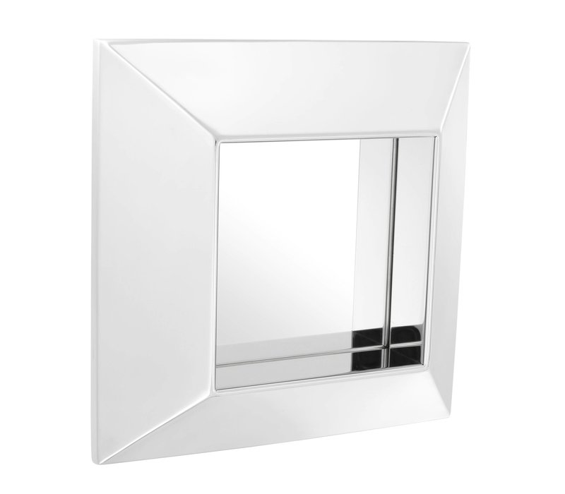 Moderne spiegel  'Vinovo' in de kleur zilver