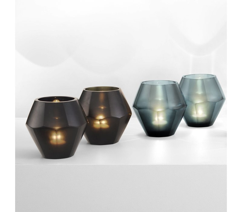 Teelichthalter - Okhto black L; Set von 2