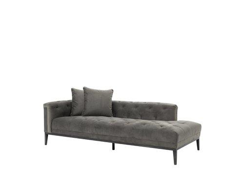EICHHOLTZ Lounge Sofa 'Cesare' Granite Grey  Right
