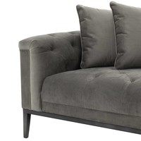 Lounge Sofa 'Cesare' Granite Grey  Right