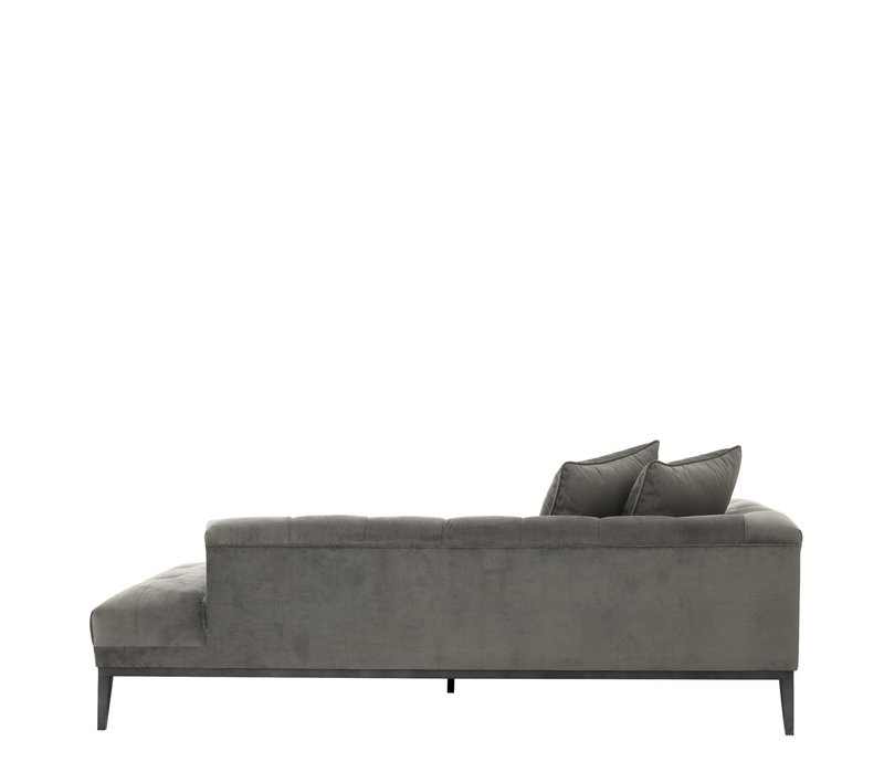 Lounge Sofa 'Cesare'  Granite Grey  Left