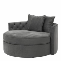 Round Lounge Sofa 'Carlita'  Granite Grey