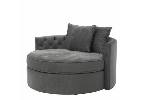 EICHHOLTZ Round Sofa 'Carlita' Granite Grey