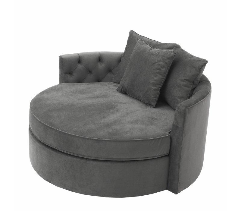 Runde Sofa 'Carlita' Granite Grey