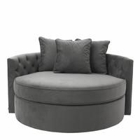 Round Sofa 'Carlita' Granite Grey