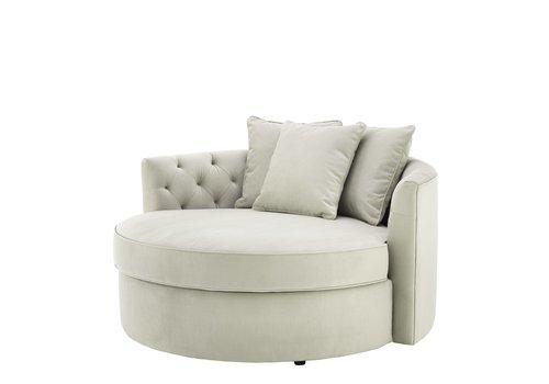 EICHHOLTZ Round Sofa 'Carlita' Pebble Grey