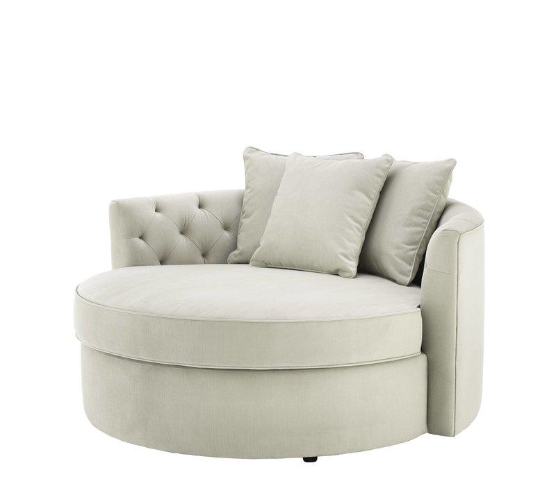 Round Sofa 'Carlita' Pebble Grey