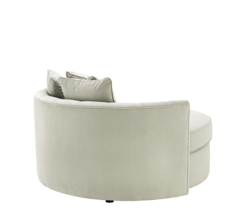 Runde Sofa 'Carlita' Pebble Grey
