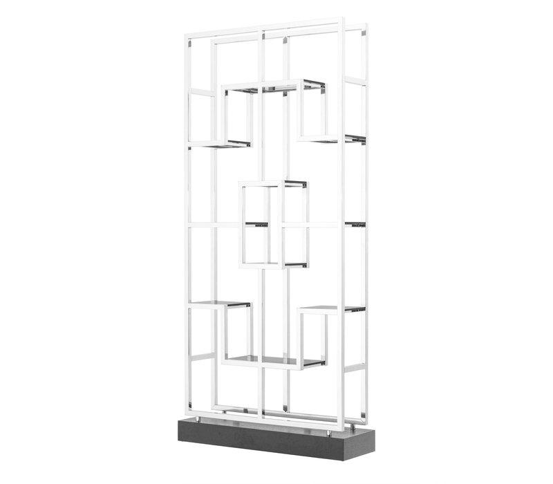 Cabinet 'Lagonda' ist 240cm hoch und gemacht aus Hochglanz Stahl