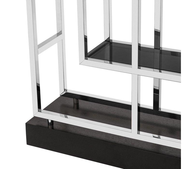 Cabinet 'Lagonda' is 240cm hoog en gemaakt van RVS