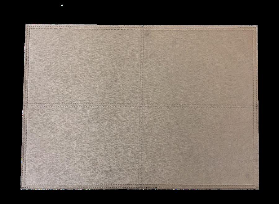 Platzdecken in der Farbe Beige - Set aus 2