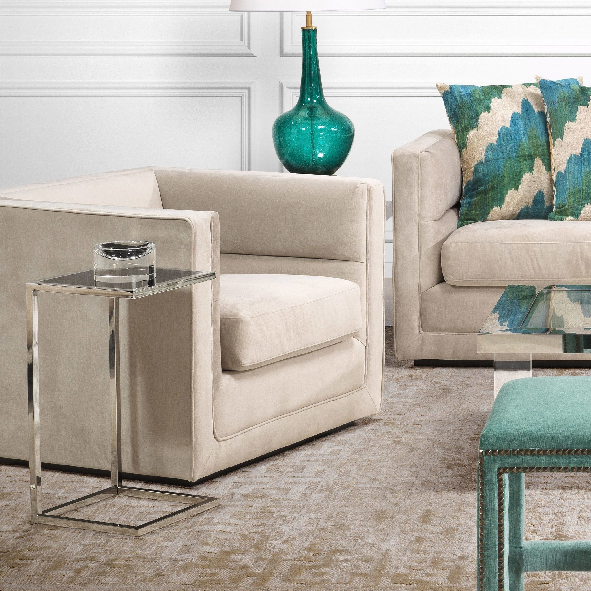 Tall Side Table Wilhelmina Designs, Tall Side Tables Living Room
