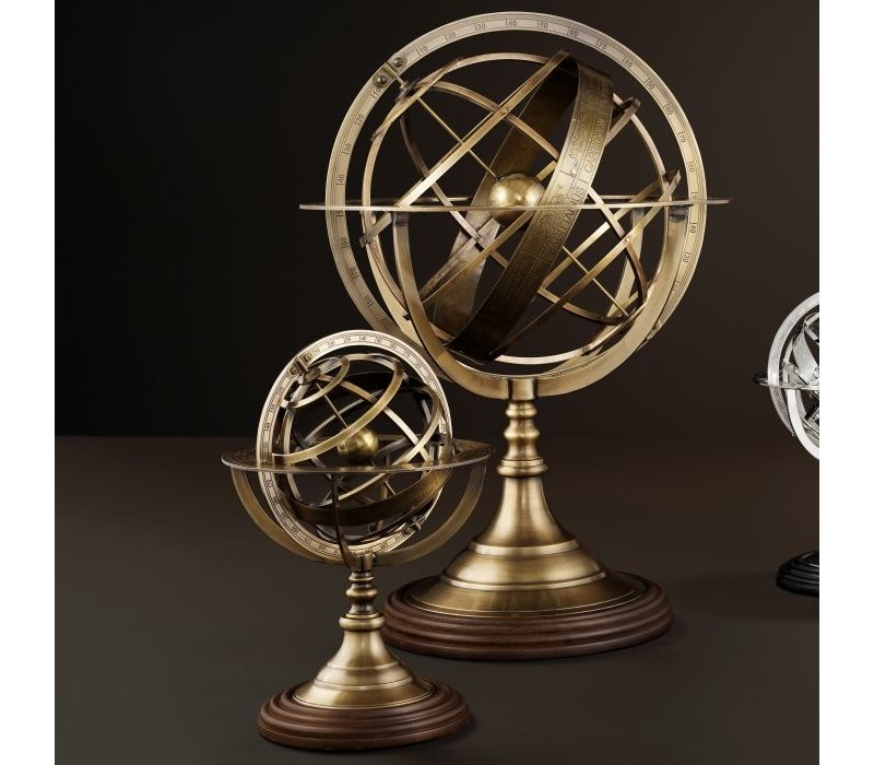 """Der Deko-Artikel """"Globe"""" in der Größe S ist 29cm hoch."""