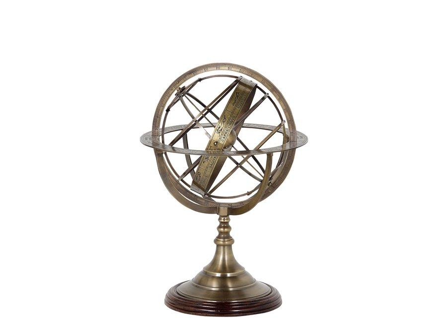 Decoratie 'Globe' S - Bronze