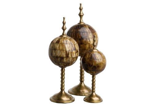 EICHHOLTZ Object Leonardo set of 3 - Bronze
