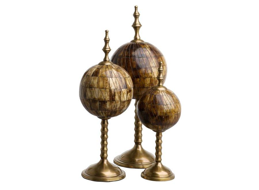 Decoratie set 'Leonardo' set van 3 - Bronze