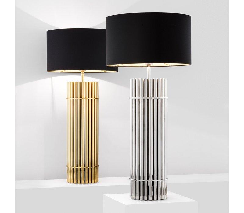 Design Tischlampe 'Reef' Gold  mit schwarzem Schirm
